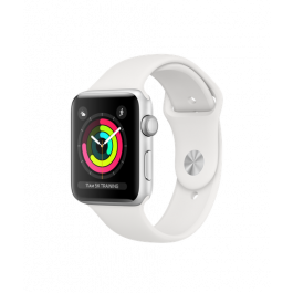 Apple Watch Series 3 GPS, 42mm Silver Aluminium Case with White Sport Band-