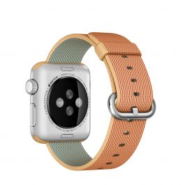 Apple Watch 38mm Band: Gold/Red Woven Nylon