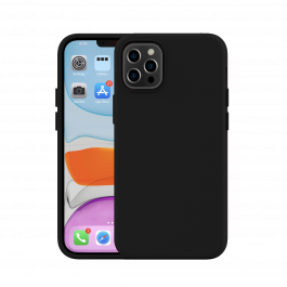 Next One Silicone Case for iPhone 12/12 Pro - crna