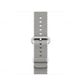 Apple Watch 38mm Band:White Check Woven Nylon