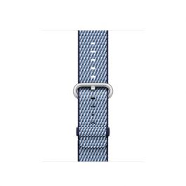 Apple Watch 38mm Band:Midnight Blue Check Woven Nylon