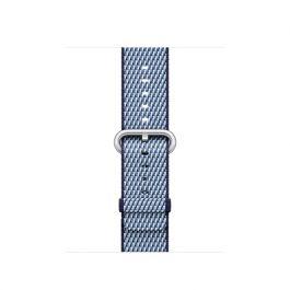 Apple Watch 38mm Band:Midnight Blue Check Woven Nylon