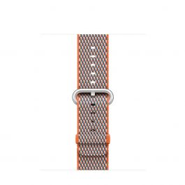 Apple - 38mm Spicy Orange Check Woven Nylon