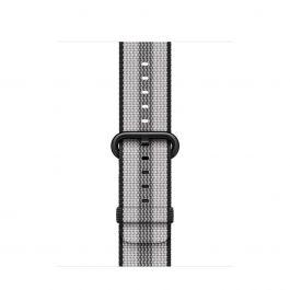Apple Watch 38mm Band: Black Stripe Woven Nylon