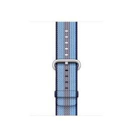 Apple Watch 38mm Band:Midnight Blue Stripe Woven Nylon