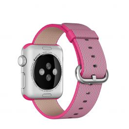 Apple 38 mm Woven Nylon - Ružičasta
