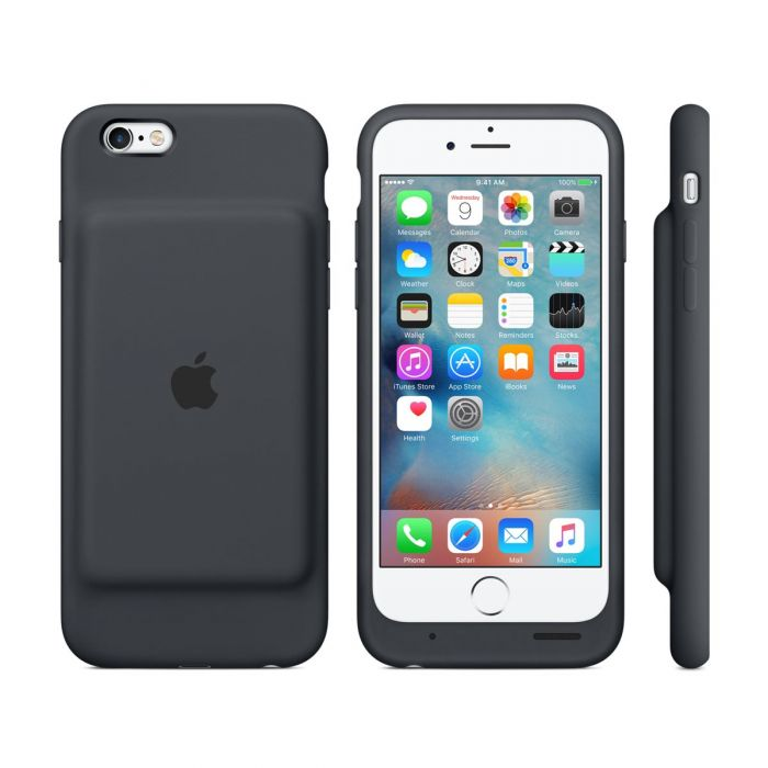 sale retailer b962b 2c0cb Apple - iPhone 6/6s Smart Battery Case - Charcoal Gray