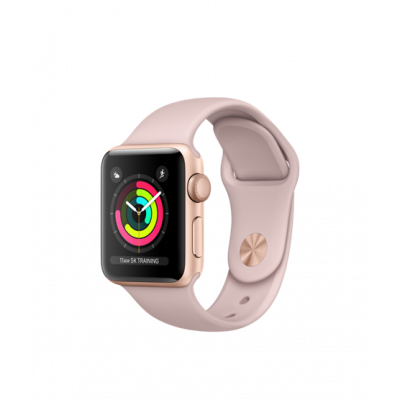 Apple Watch Series 3 - 38 mm Gold Aluminum Case with Pink Sand Sport Band