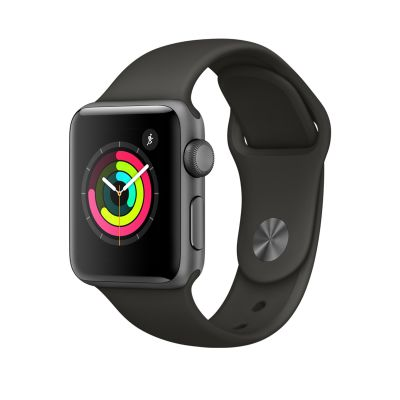 Apple Watch Series 3 - 38 mm Space Gray Aluminum Case with Gray Sport Band