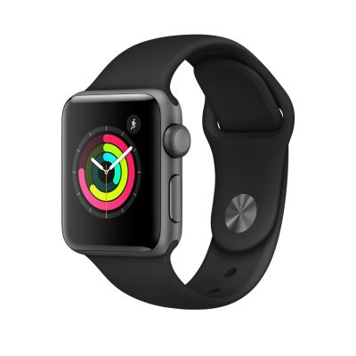 Apple Watch Series 3 - Space Gray Aluminum Case with Black Sport Band