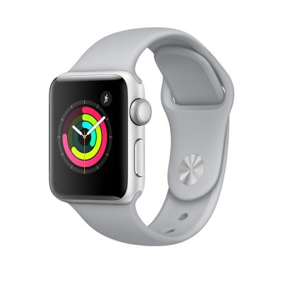 Apple Watch Series 3 - 38 mm Silver Aluminum Case with Fog Sport Band