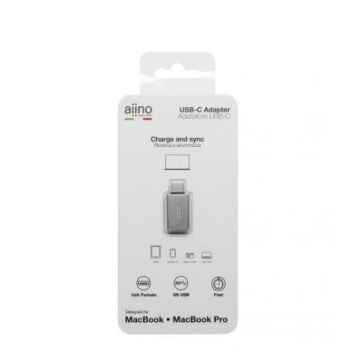 Aiino - USB-C to female USB metal adapter - Premium - Space Grey