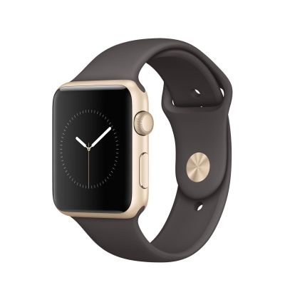 Apple Watch Series 1 - 42mm Gold Aluminium Case sa Cocoa Sport Band