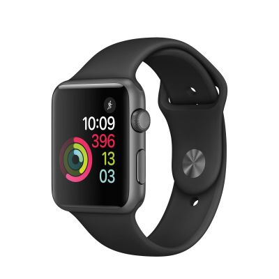 Apple Watch Series 1 - 42 mm Space Grey Aluminium Case s Black Sport Band