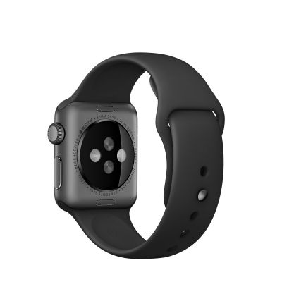 Apple 38 mm Sport Band - Crna sa svemirsko crnom kopčom