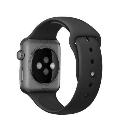 Apple 42 mm Sport Band - Crna sa svemirsko crnom kopčom
