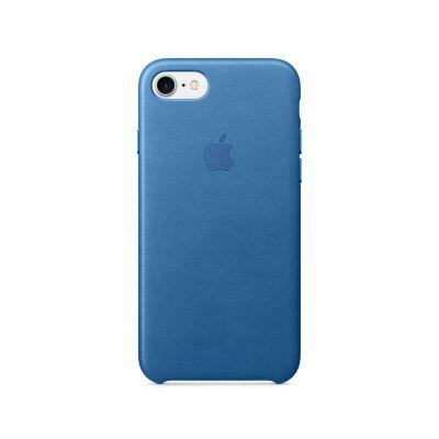 Apple iPhone 7 Leather Case - Sea Blue