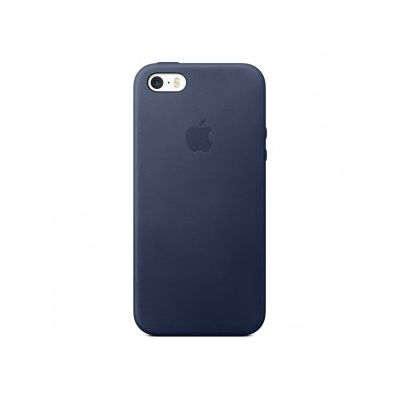Apple - iPhone SE Leather Case - Midnight Blue