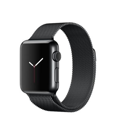 Apple Watch 38 mm Stainless Steel Case s Space Black Milanese Loop